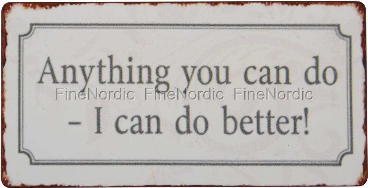 Ib laursen magnet skylt anything you can do i can do better - What you can do with magnets ...