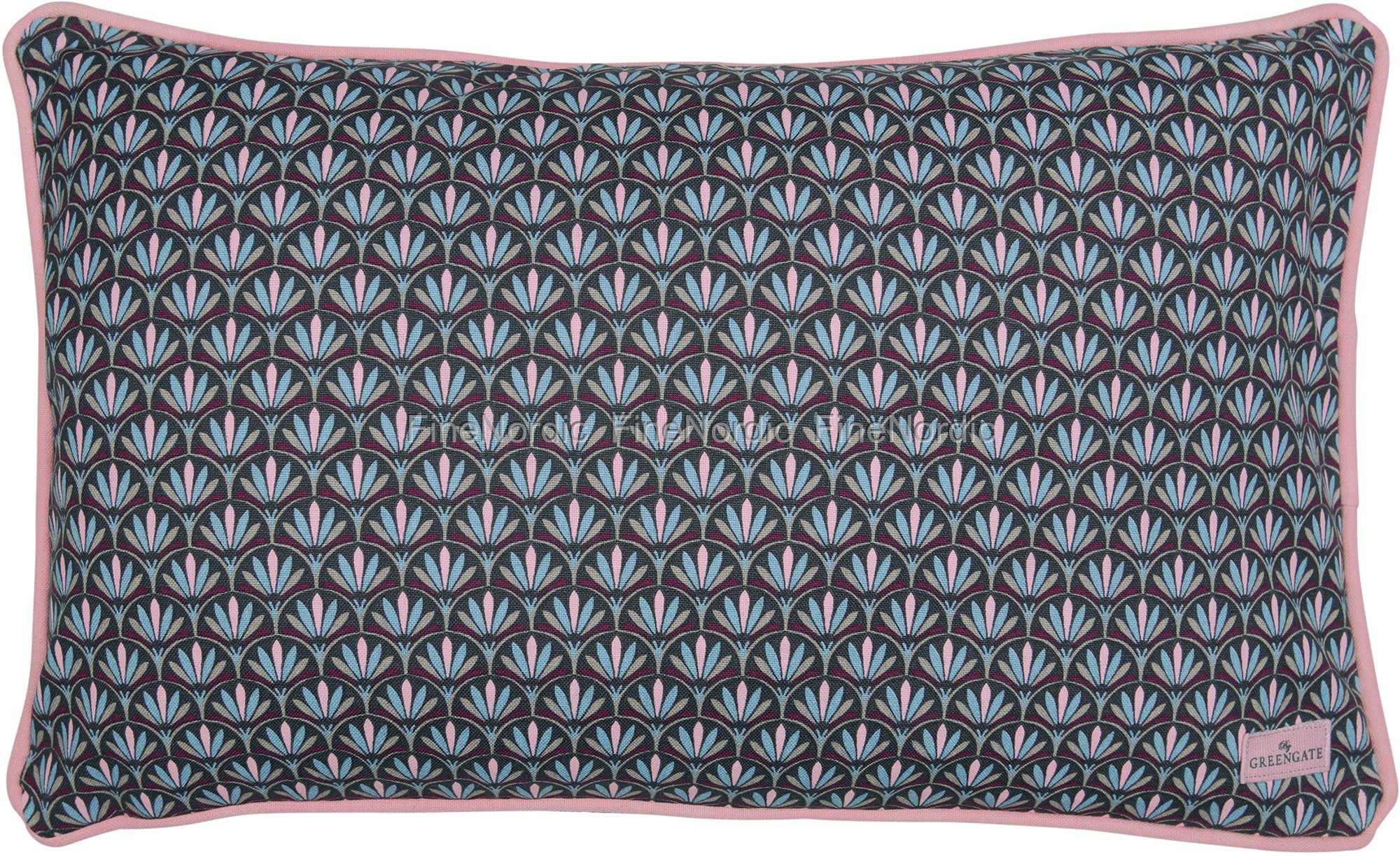 greengate kuddfodral cushion victoria dark grey 30 x 50 cm. Black Bedroom Furniture Sets. Home Design Ideas
